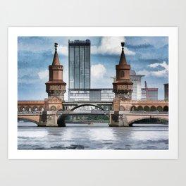 Oberbaum Bridge, Berlin Art Print