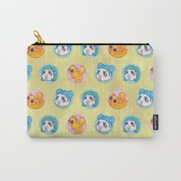 Umie & Mochi VIII - Pattern 1 - Yellow Carry-All Pouch