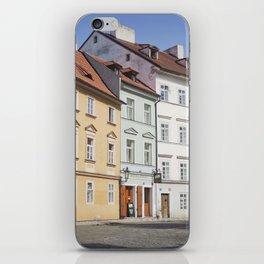 Buildings on a Cobblestone Street in Prague iPhone Skin