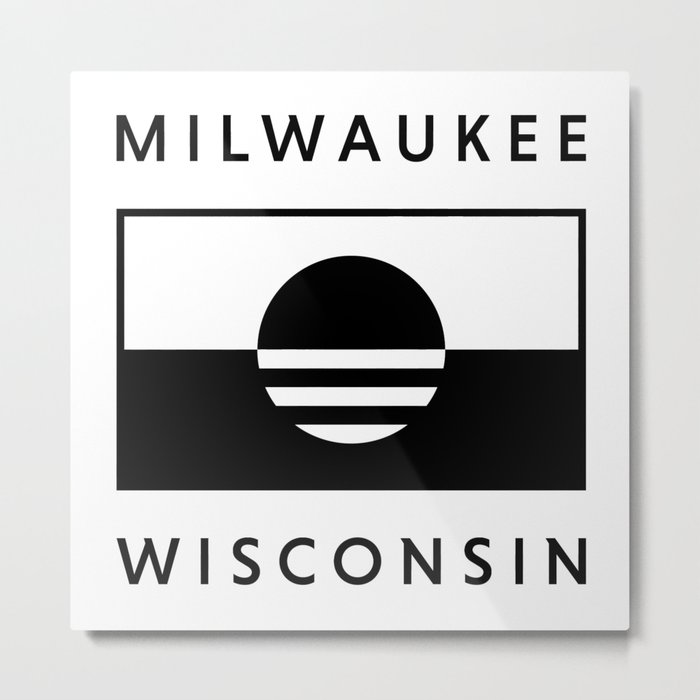 Milwaukee Wisconsin - White - People's Flag of Milwaukee Metal Print