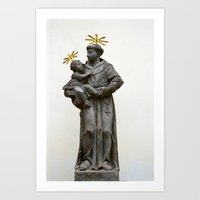 religious Art Prints featuring Religious sculpture by Anna Myshkin