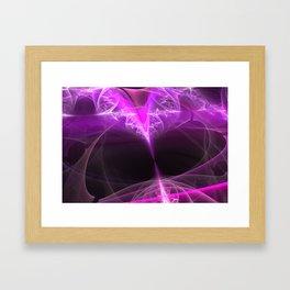 The beginning-attraction- fractal heart Framed Art Print