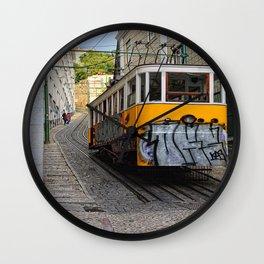 Tram on the Hill Wall Clock