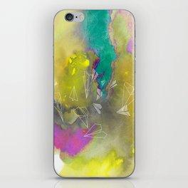 Planes in Watercolor iPhone Skin