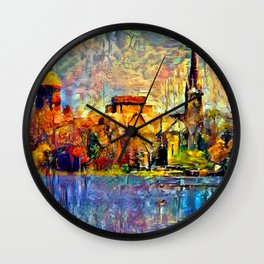 Notre Dame: A View From the Lake Wall Clock