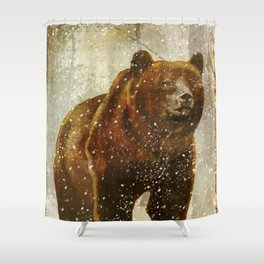 Wild Game Winter Bear Shower Curtain