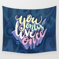 yolo Wall Tapestries featuring YOLO by Art4Anj