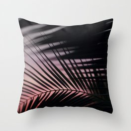 Sunset Palms Pink Throw Pillow