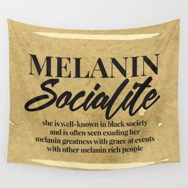 MELANIN SOCIALITE Wall Tapestry