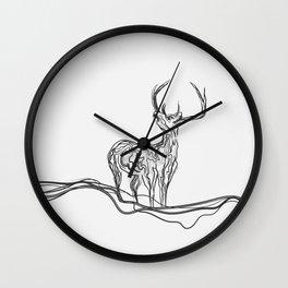 Mountain (Closer Than You Know) Lino Cut Wall Clock