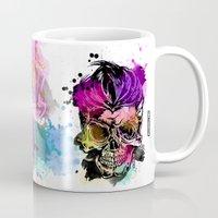 kindle Mugs featuring 128@AllSkull™ by ALLSKULL.NET