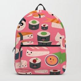 Kawaii sushi hot pink Backpack