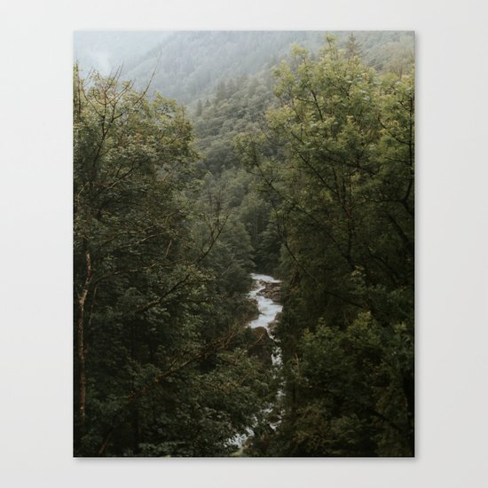 Forest Valley River - Landscape Photography Canvas Print