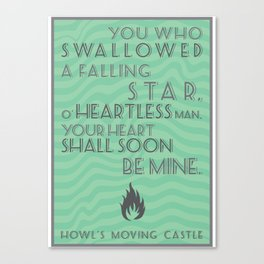 Howl's Moving Castle Quote Canvas Print