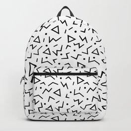 Memphis Pattern 13 - 80s Retro Backpack