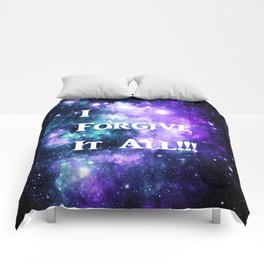 Teal Violet Galaxy : I Forgive It All Comforters