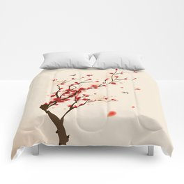 Oriental plum blossom in spring 005 Comforters