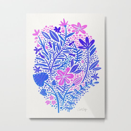 Garden – Indigo Palette Metal Print