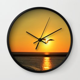 Icarus Vacationing in San Diego, California Wall Clock