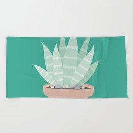 Cactus Suculents Plants Beach Towel