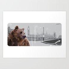 Cityscape Bear Art Print