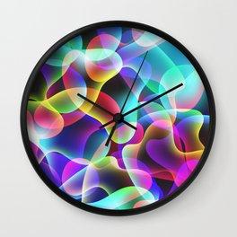 Electric  Rainbow Jellyfish Wall Clock