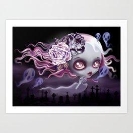 Ghostly Luna Art Print
