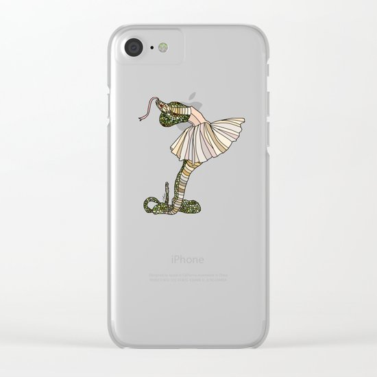 Snake Ballerina Tutu Clear iPhone Case