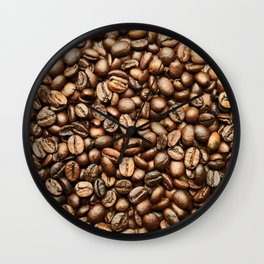 Roasted Coffee Beans Wall Clock