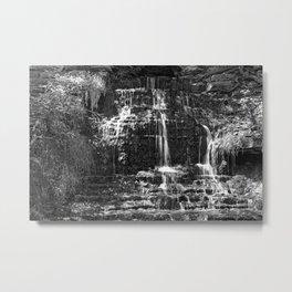 Monochrome Beulah Falls Metal Print