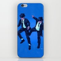 blues brothers iPhone & iPod Skins featuring Blues Brothers by Dave Collinson