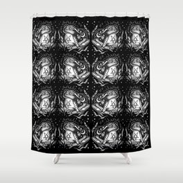 BLACK TOAD Shower Curtain