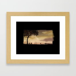 63- Kerala Sunset and landscape Framed Art Print