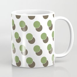 Green Dot Spot Geometric Print Coffee Mug