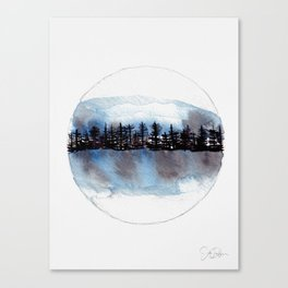 Winter Marble Canvas Print