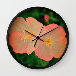 2 Tangerine Flowers | Flower | Nadia Bonello | Canada Wall Clock