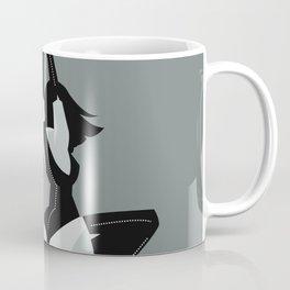 bondage black leather girl Coffee Mug