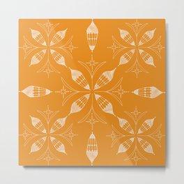 Lanterns of Morocoo orange Metal Print