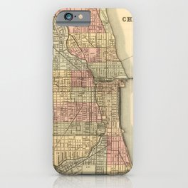 Vintage Map Of Chicago iPhone Case