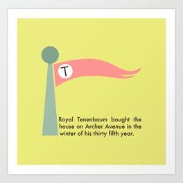 The Tenenbaums flag pennant Art Print