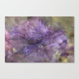 Carnival of Flowers - Purple Canvas Print
