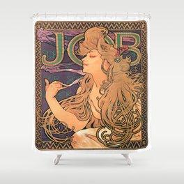 Vintage poster - JOB Cigarettes Shower Curtain