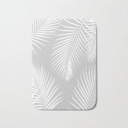 Gray Tropical Pattern Bath Mat