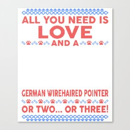 German Wirehaired Pointer Ugly Christmas Sweater Canvas Print