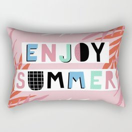 Enjoy summer Rectangular Pillow