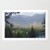 montana Art Prints featuring Montana by Photography by Holly Kerchner
