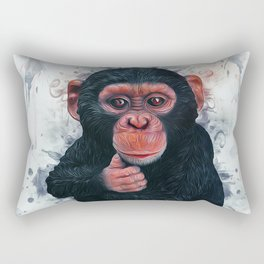 Chimpanzee Art Rectangular Pillow