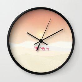 Minimal desert Wall Clock