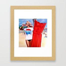 Sexie bouy Framed Art Print