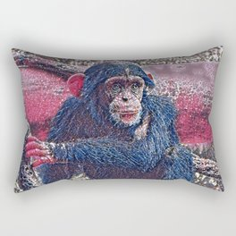 GlitzyAnimal_Chimpanzee_001_by_JAMColors Rectangular Pillow